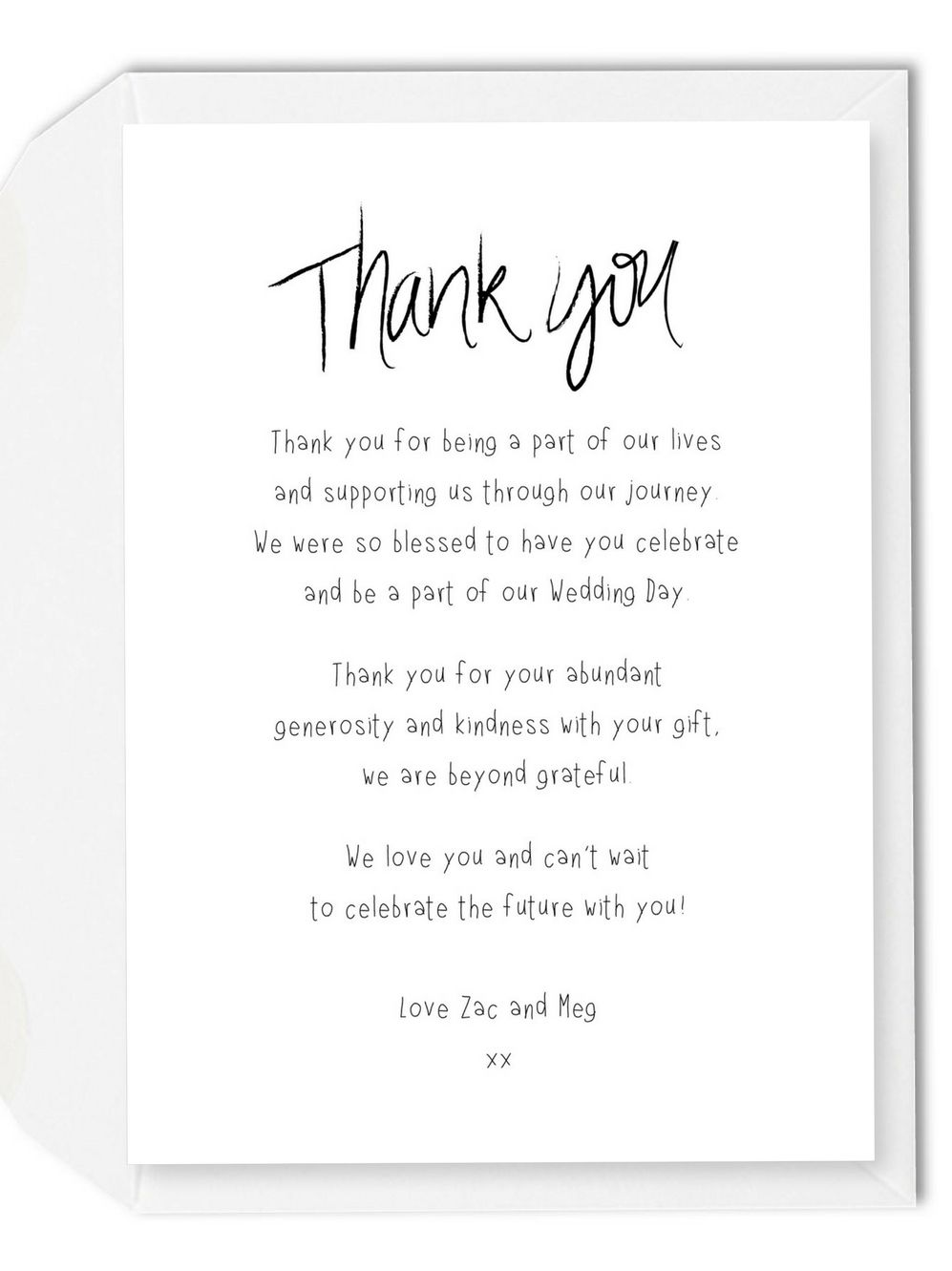 Thank You Message For Marriage Invitation Thank You Card Wording
