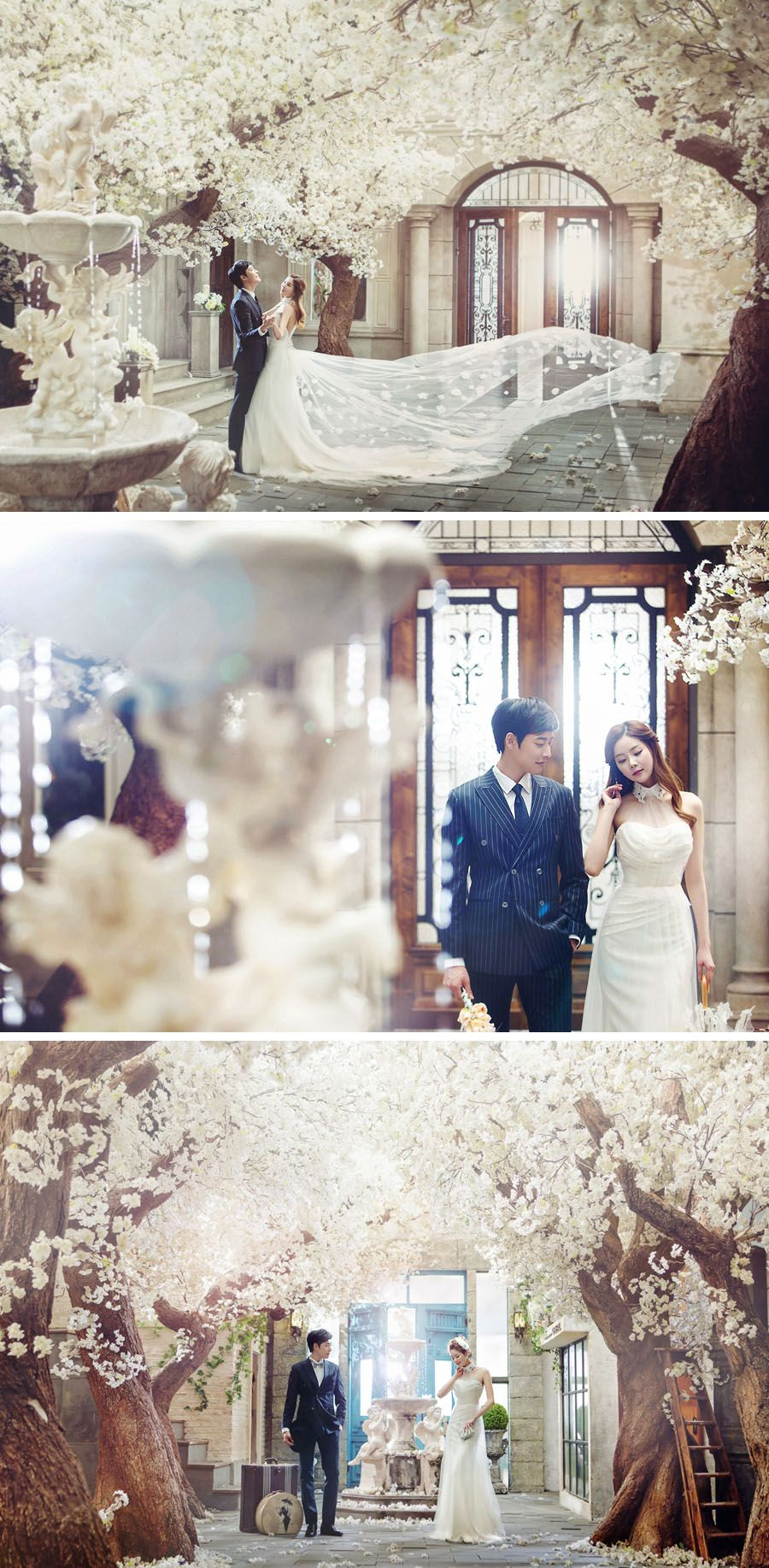 Elegant floral garden // Korean wedding photography // Bong Studio