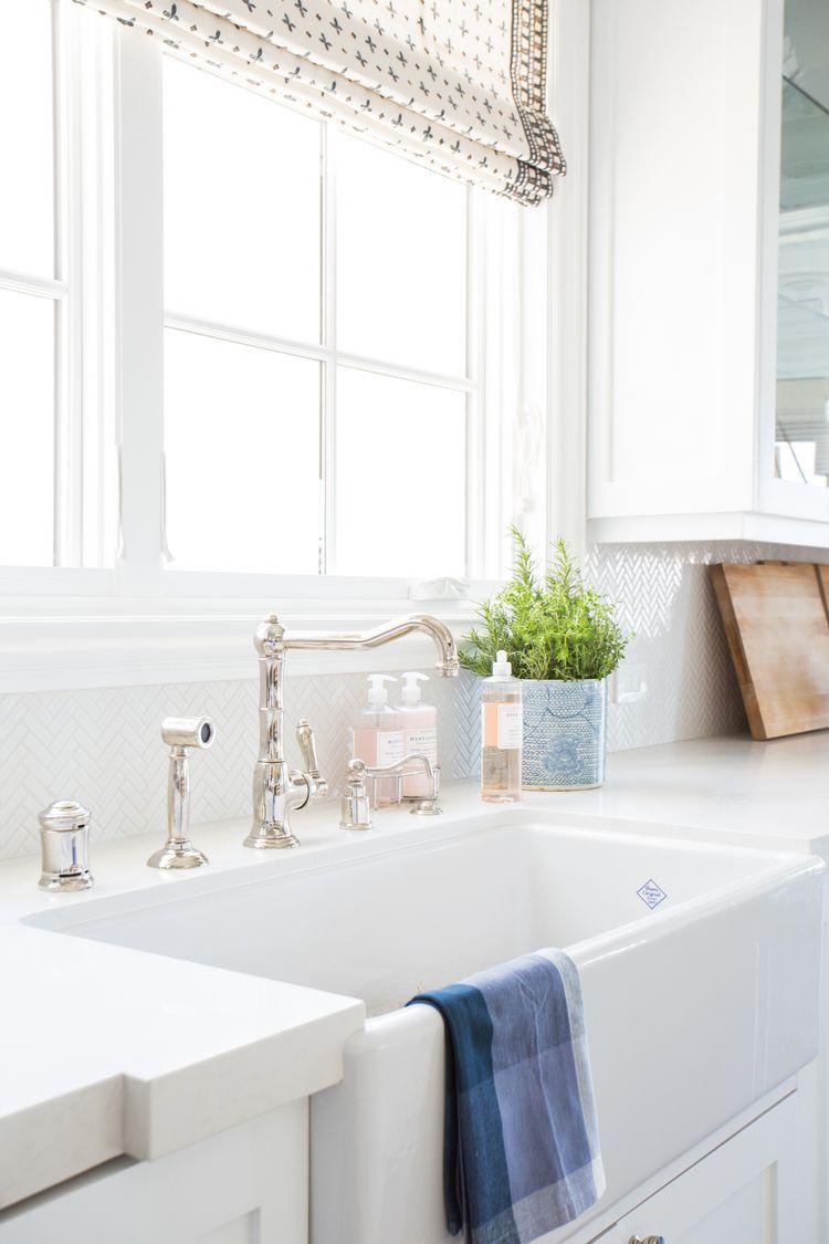 Coastal style farmhouse sink kitchen studio mcgee