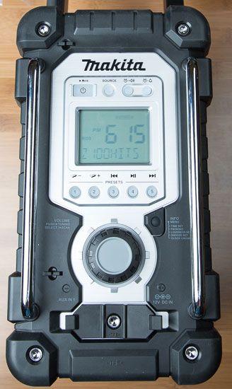 Makita Jobsite Radio Lxrm03b Front Controls Makita Jobsite Radio