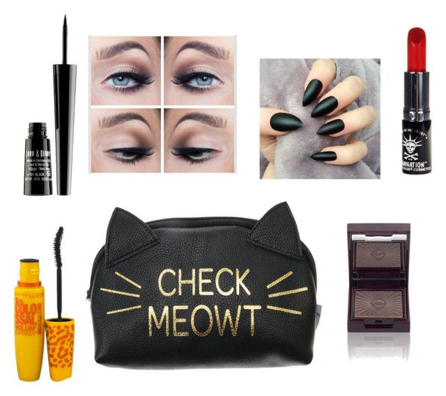 """""""Cat makeup"""" by natasha1234 ❤ liked on Polyvore featuring beauty, Lord & Berry, Manic Panic and Maybelline"""