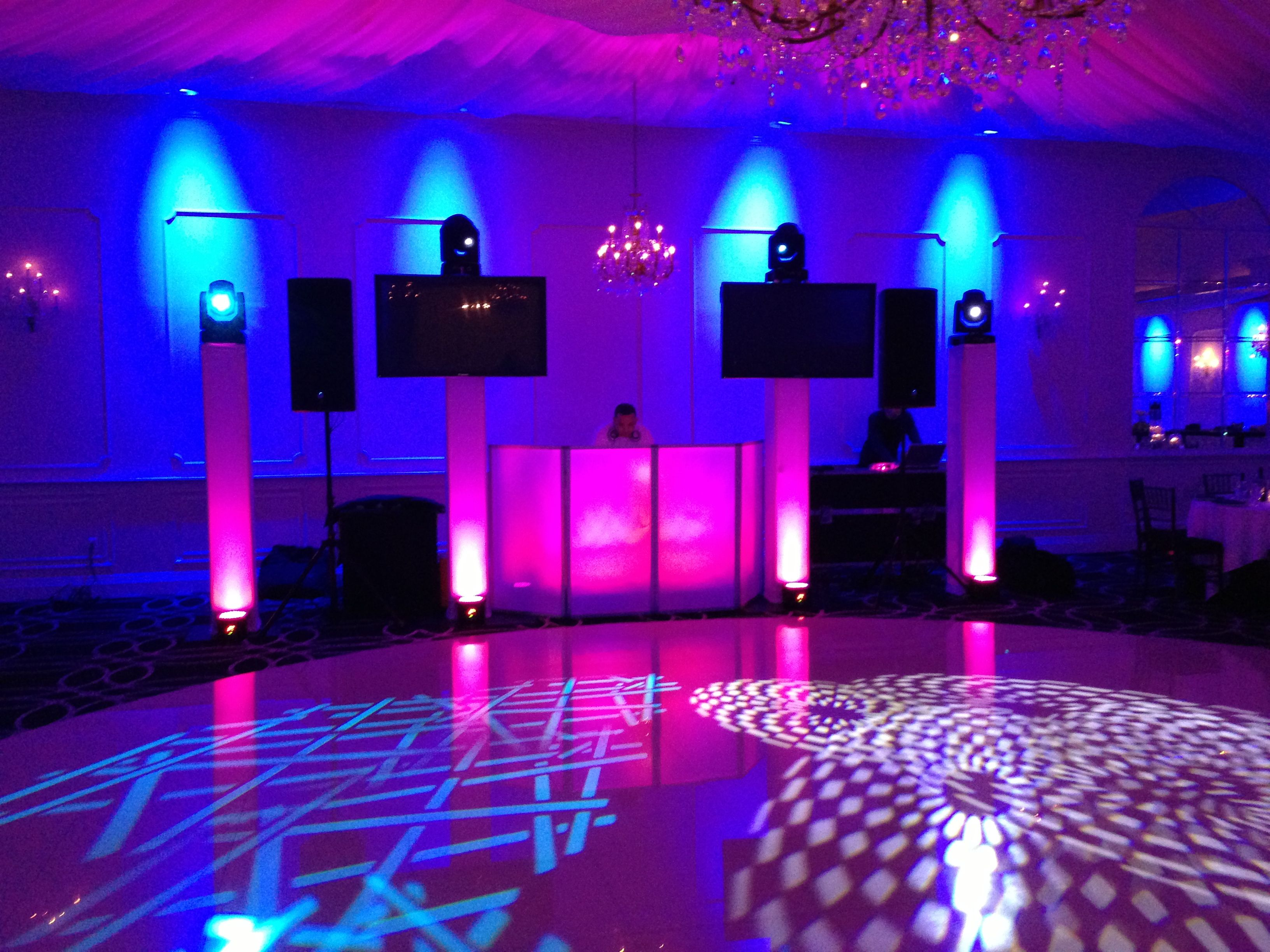wedding entertainment dj set up deejay set ups