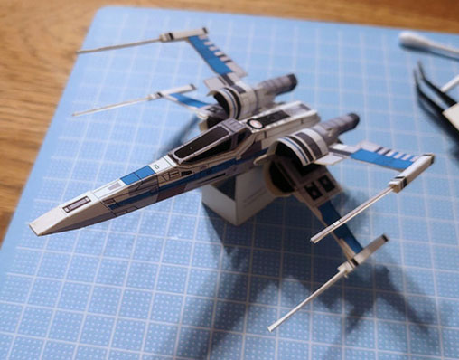 star wars xwing starfighter paper model  paperized