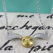 Harry Potter Golden Snitch Quidditch Accessory - Authentic Costum Necklace hl041