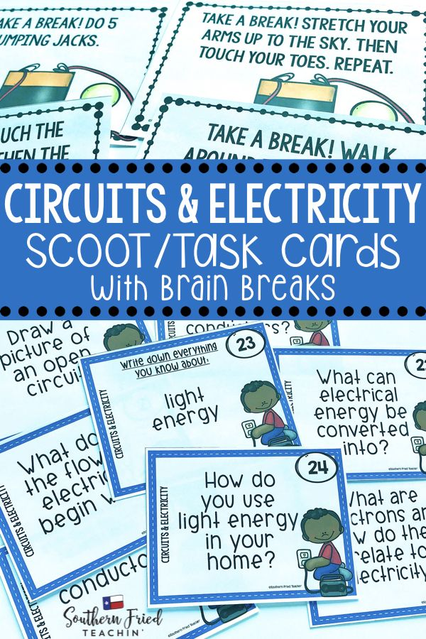Circuits & Electricity Scoot Game/Task Cards Task cards