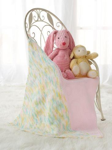Half & Half Preemie Baby Blanket | Yarn | Free Knitting Patterns | Crochet Patterns | Yarnspirations