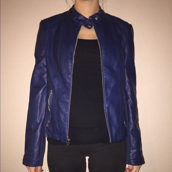 Black Rivet Blue Faux Leather Jacket My Posh Picks Pinterest