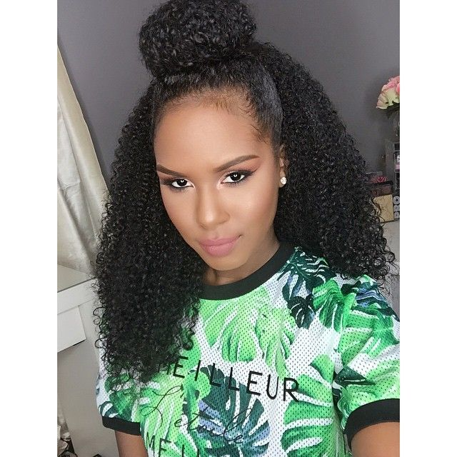 Curly Half Up Half Down Bun Hair Styles Natural Hair Styles Crochet Braids Hairstyles
