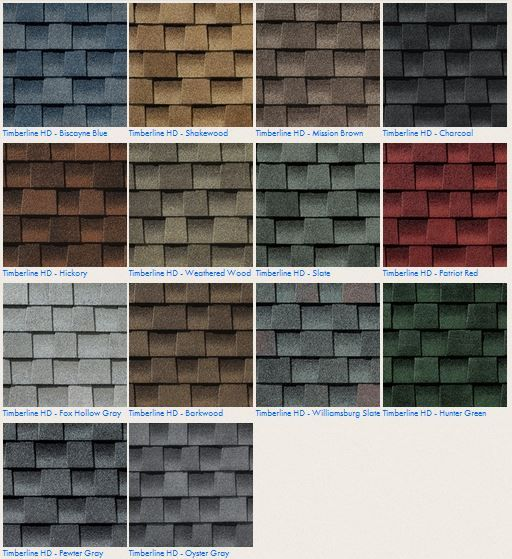 GAF Timberline HD #Roofing Shingle Color Options Contact us today