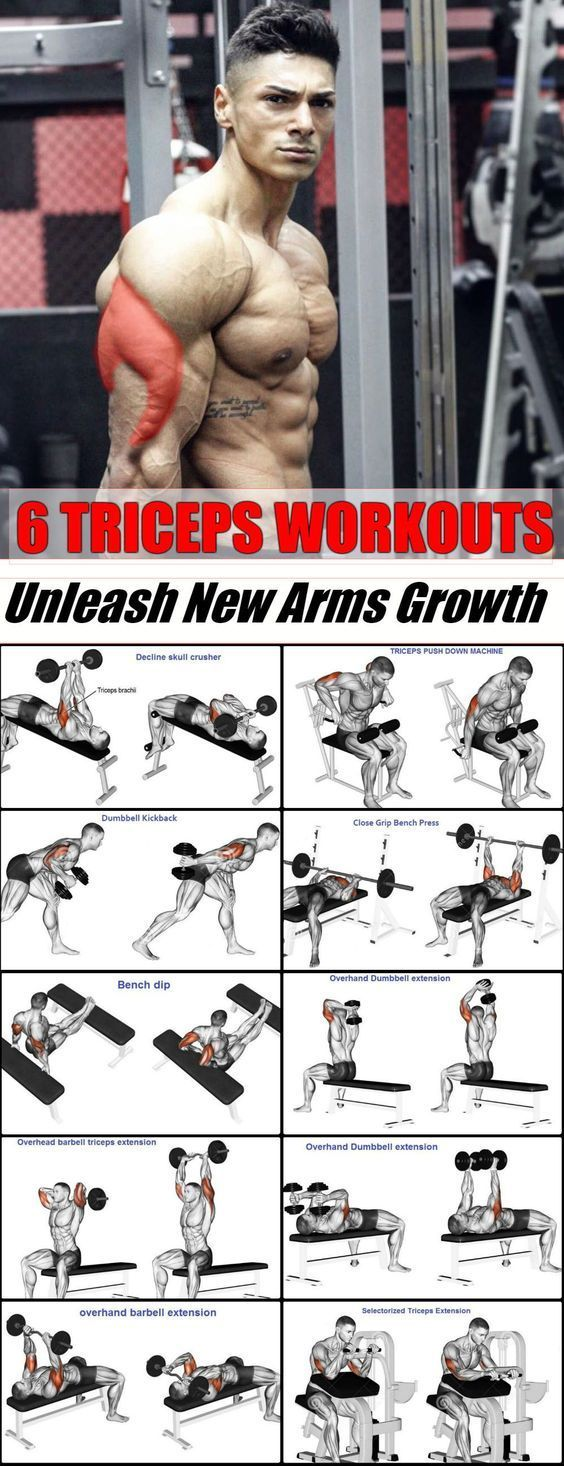 6 Best Triceps Workouts - Unleash New Arms Growth - GymGuider.com