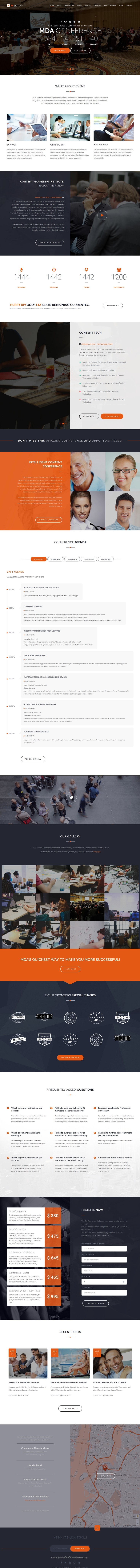 Meetup Conference Event Joomla Template  Event Website Template