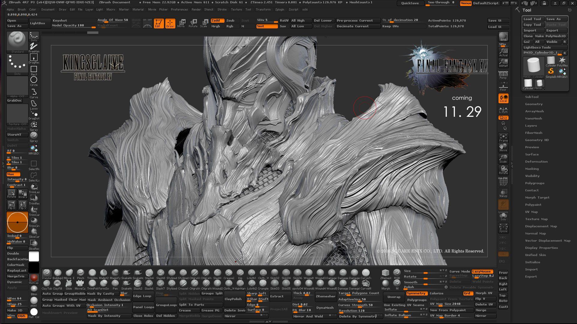 Free Download Square Enix Zbrush Custom UI – zbrushtuts