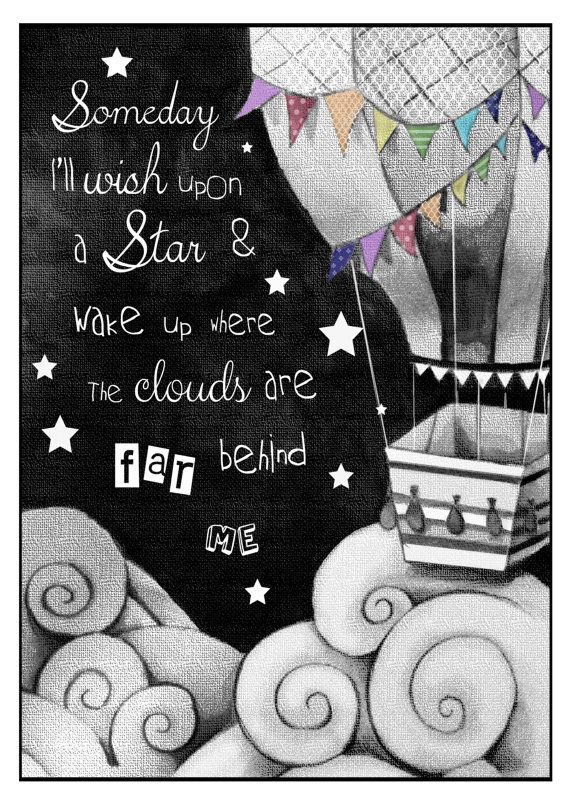 Song quote print by StephJonesArtist on Etsy, £15.00
