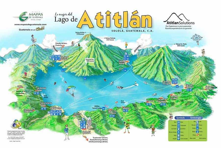 Lake Atitlan Guatemala Map Geographic Evolution, Lake & Volcanoes | Magical Places in 2019