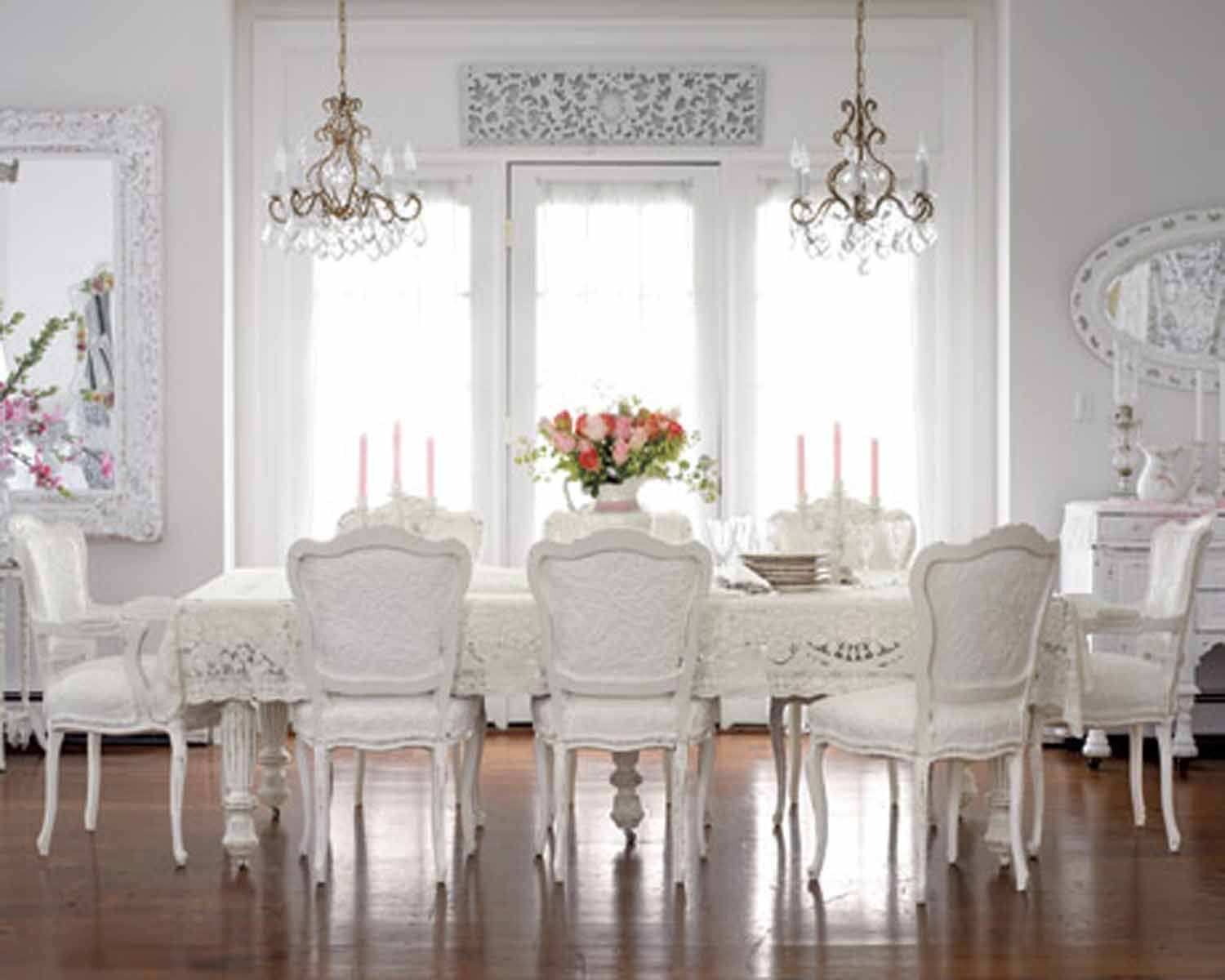 Innovative My Dreams White Home Listed In Dining Room Interior Enchanting Dining Room White Design Ideas