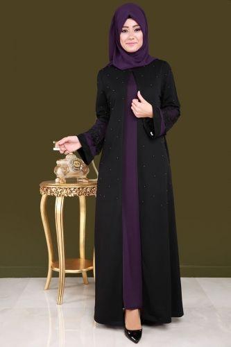 B N M Hirkasi Incili 2 Li Takim Bnm00231 Mor Moda Stilleri Musluman Modasi Islami Giyim