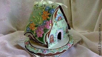 """Пряничный домик """"Полевые цветы"""" - пряник,пряники,Пряники имбирные,пряничный…"""