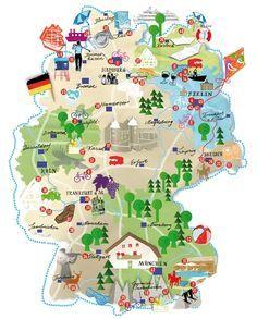 illustrations germany google search travel mapstravel