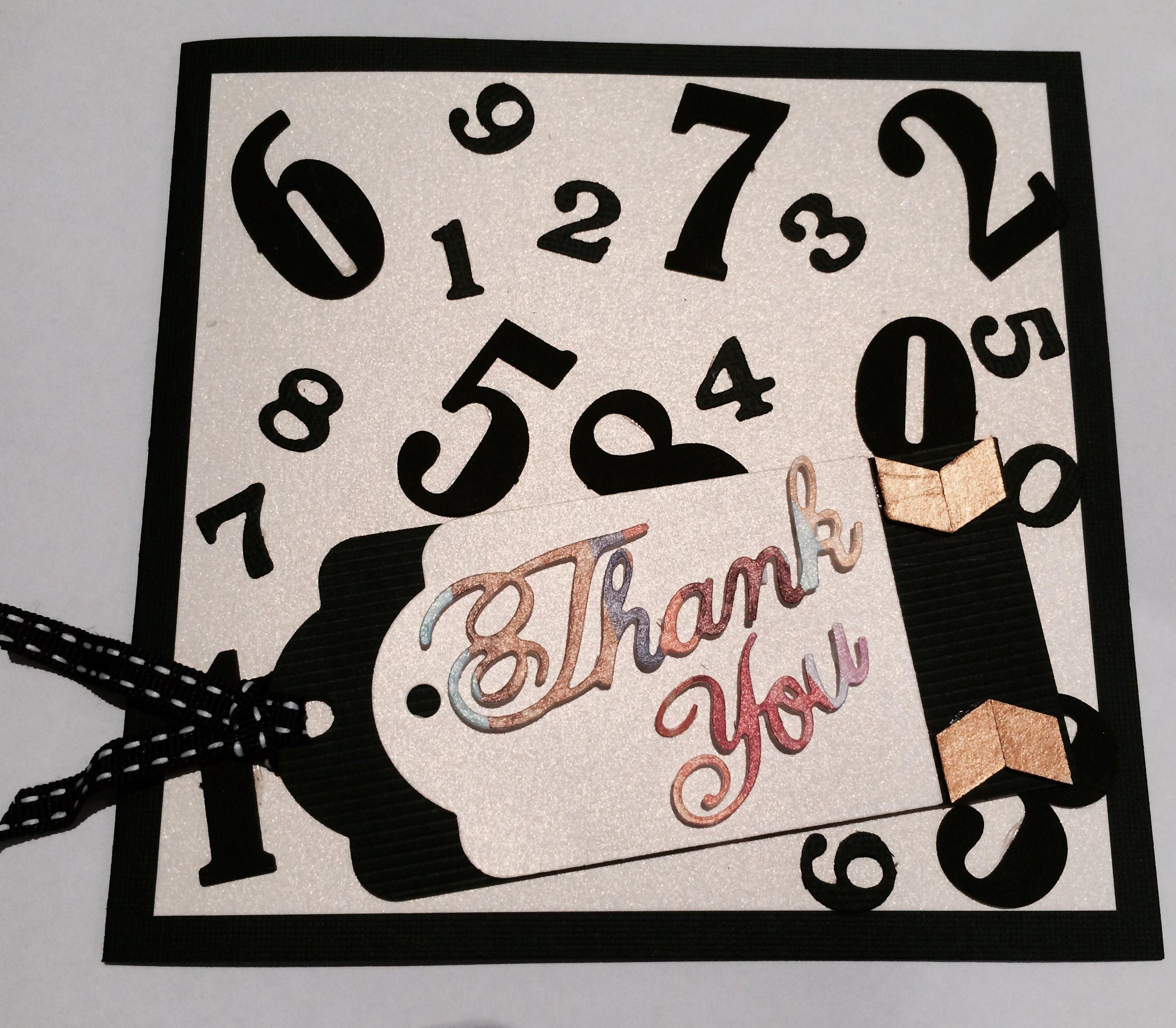 Thank You Card For A Maths Teacher Teacher Appreciation Cards