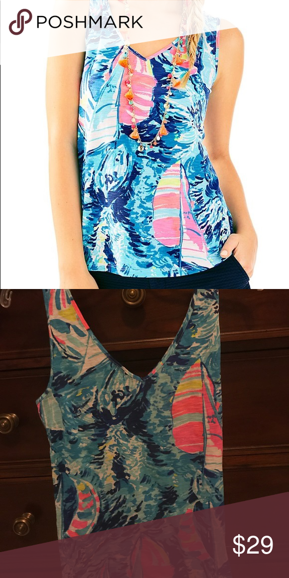 59650637ea Lilly Pulitzer Gigi Top Small. Worn twice. Very good condition. Lilly  Pulitzer Tops
