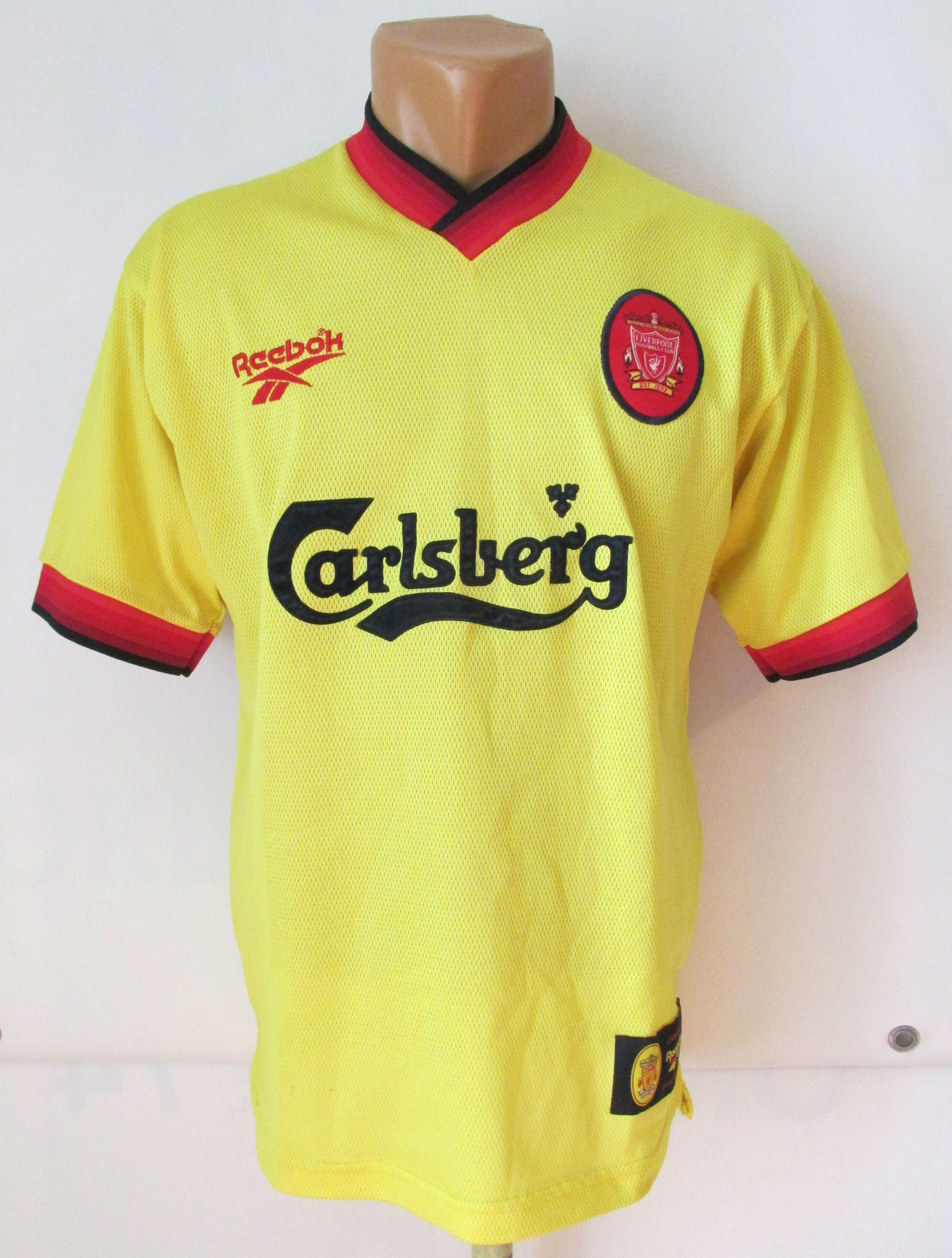 newest 8f2cc cb07c Liverpool 1997/1998/1999 away football shirt by Reebok LFC ...
