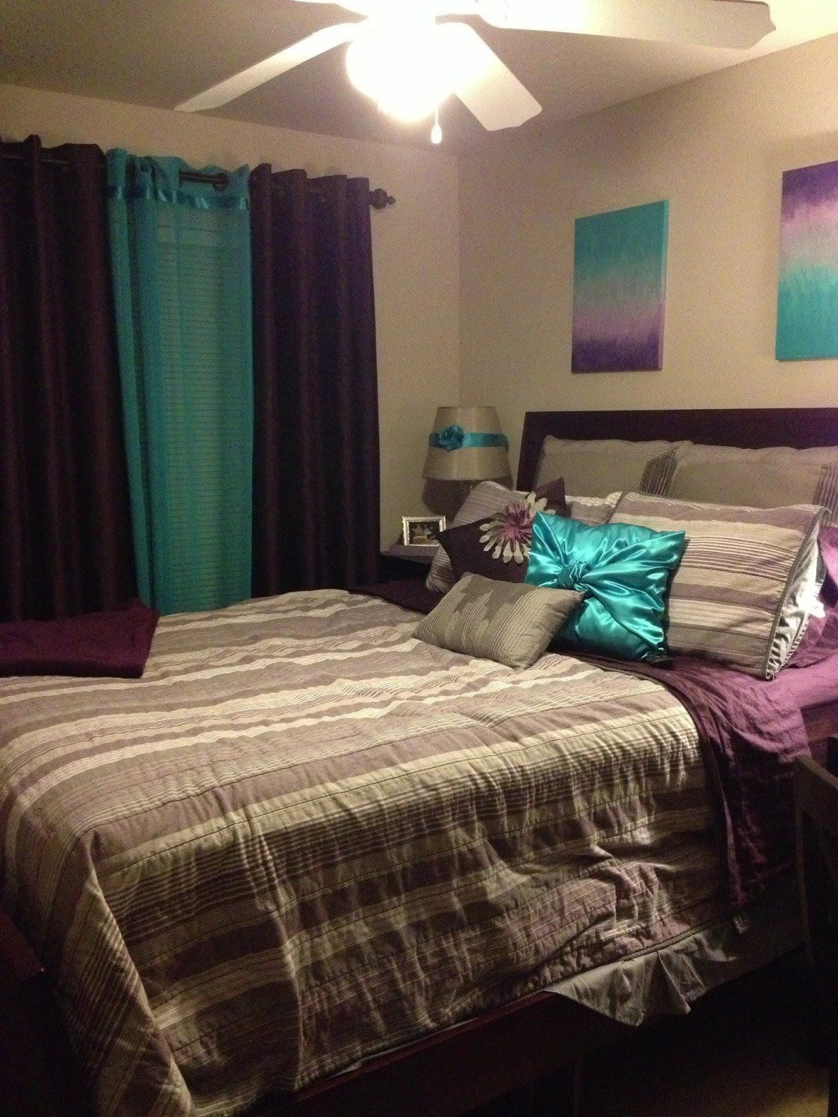 Purple And Green Bedrooms Ideas Teal And Purple Bedroom Bedroom At Real Estate In 2020 Teal Bedroom Decor Remodel Bedroom Teal Bedroom Teal purple bedroom ideas