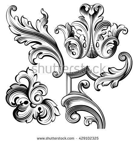 vintage baroque victorian frame border monogram floral ornament leaf scroll engraved retro. Black Bedroom Furniture Sets. Home Design Ideas