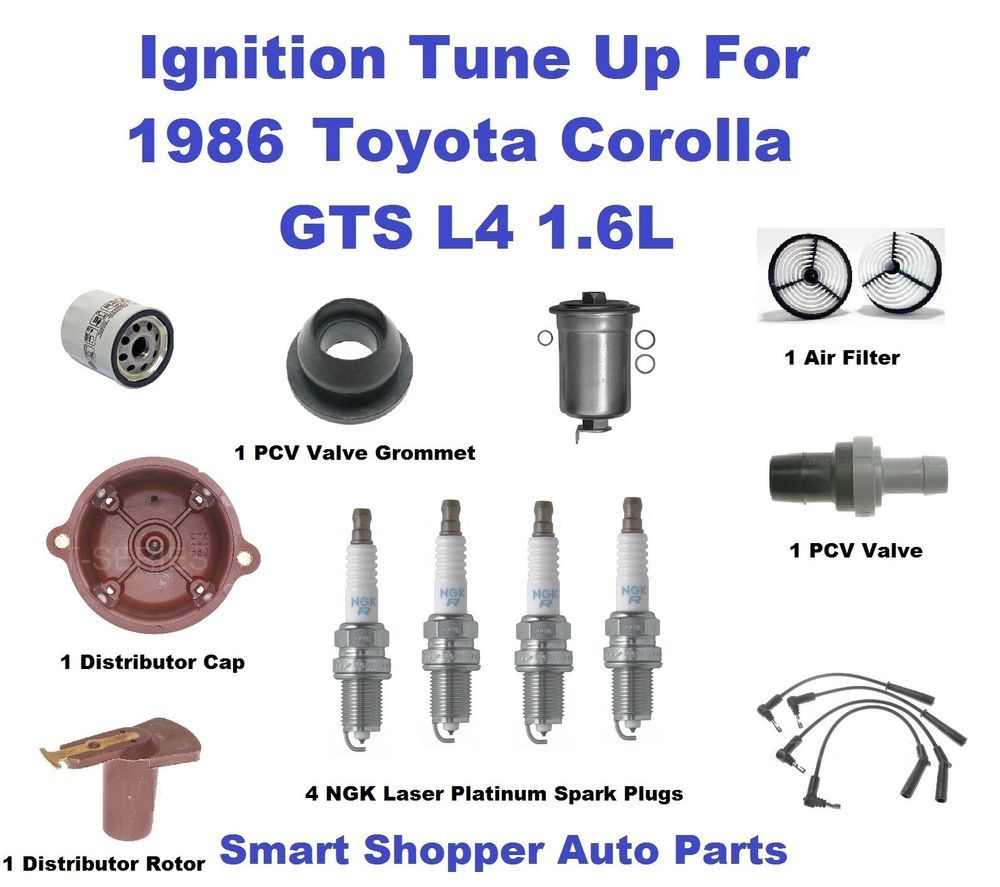 Ignition Tune Up For 1986 Toyota Corolla GTS RWD L4