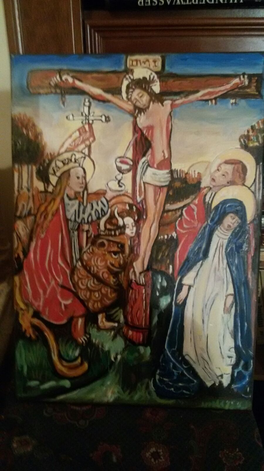 Indiana Jones Last Crusade Replica Crucifixion Holy Grail Oil Painting Indiana Jones Indiana Jones Last Crusade Painting