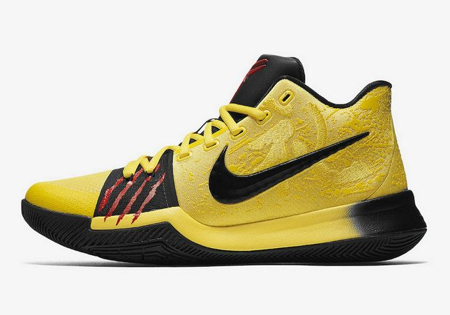 Cool Nike Kyrie 3 Mamba Mentality Tour Yellow Black AJ1692-700 Basketball  Shoe For Sale