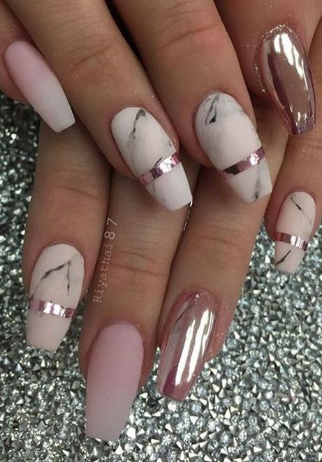55+ CHROME NAIL ART IDEAS - 60+ Awesome Nail Designs And Outfit Ideas To Copy Right Now