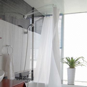 Shower Curtain Rod Fan Shaped Rod Curtains Shower Curtain Rods