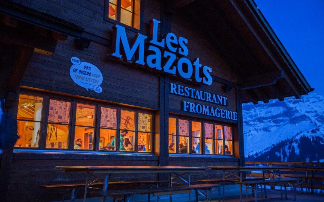 Restaurant für Les Mazots - berühmt für Käsefondue