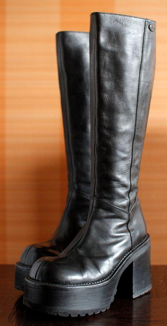 ccc818cb13c BUFFALO platform boots 90 s Club Kid Grunge by VintagePlatformDeal Goth Platform  Boots