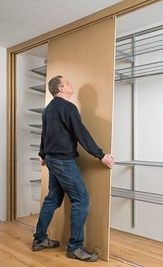 Schiebetürenschrank selber bauen | bauen | Pinterest | Closet doors ...