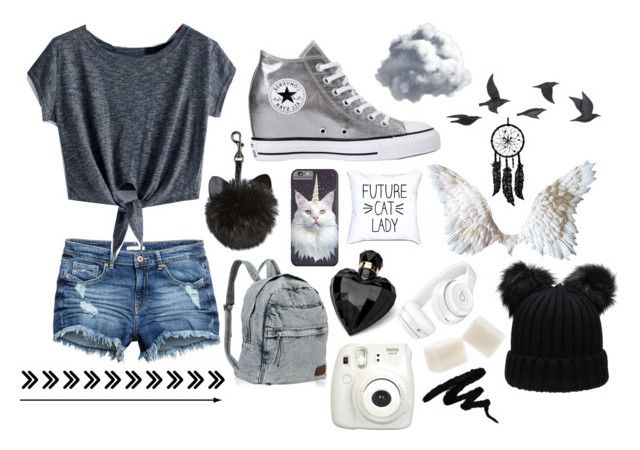 """""""Me"""" by animalamelia ❤ liked on Polyvore featuring Converse, Lipsy, Fujifilm, Beats by Dr. Dre and Jayson Home"""