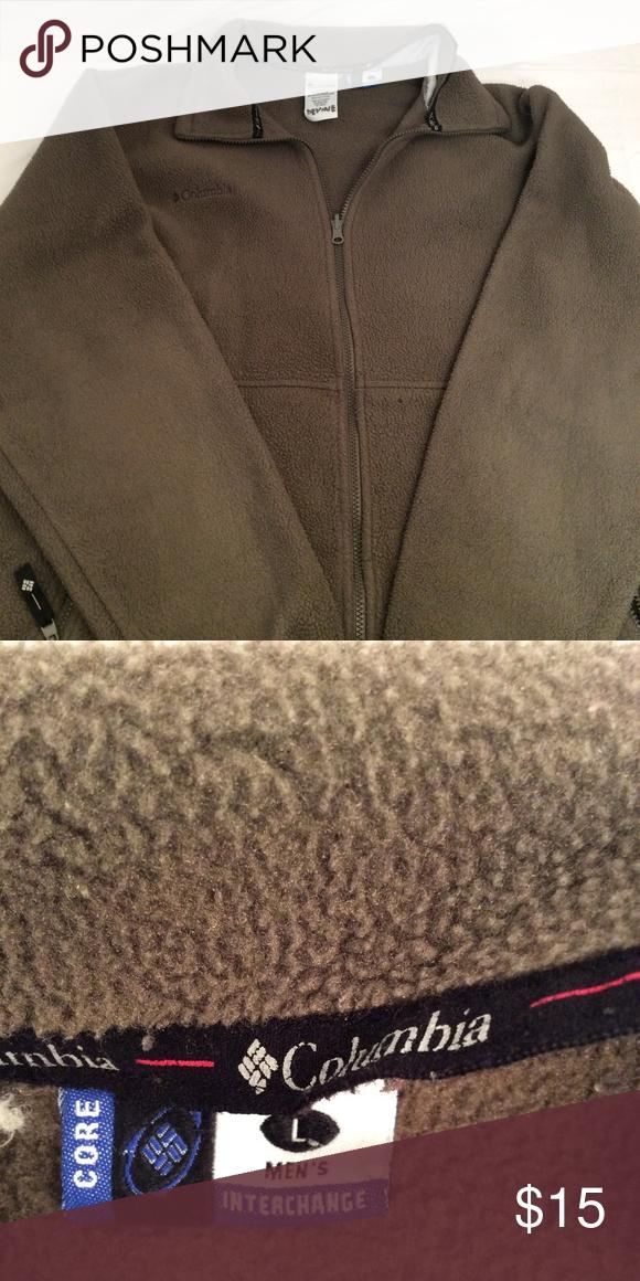 5d5baaf684c Mens Columbia Jacket Mens size large olive green columbia zip up core  jacket. zip up