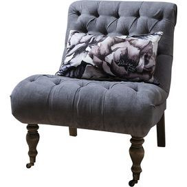 Lyra Tufted Chair in Grey