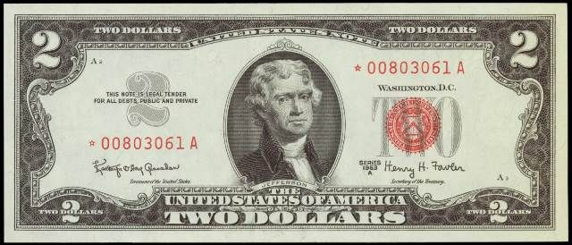 How Much Is A 1963 2 Bill Worth Sell 1963 Currency