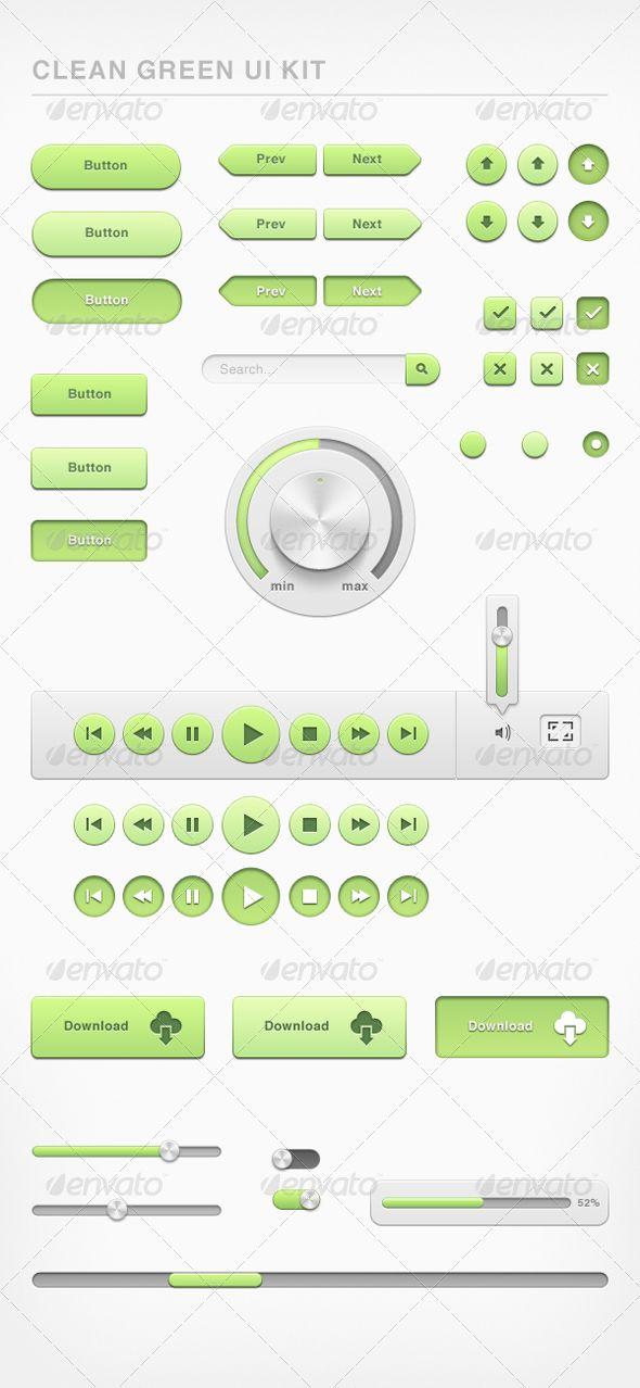 Clean Green Ui Kit
