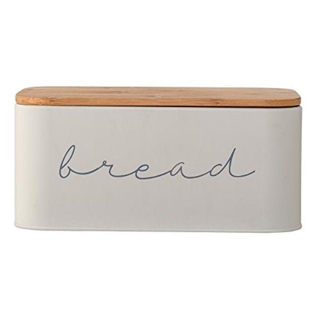 Bloomingville a97306650 metal bread bin with bambo