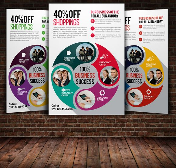 Business Planning Flyer Templates by Psd Templates on Creative - discount flyer template