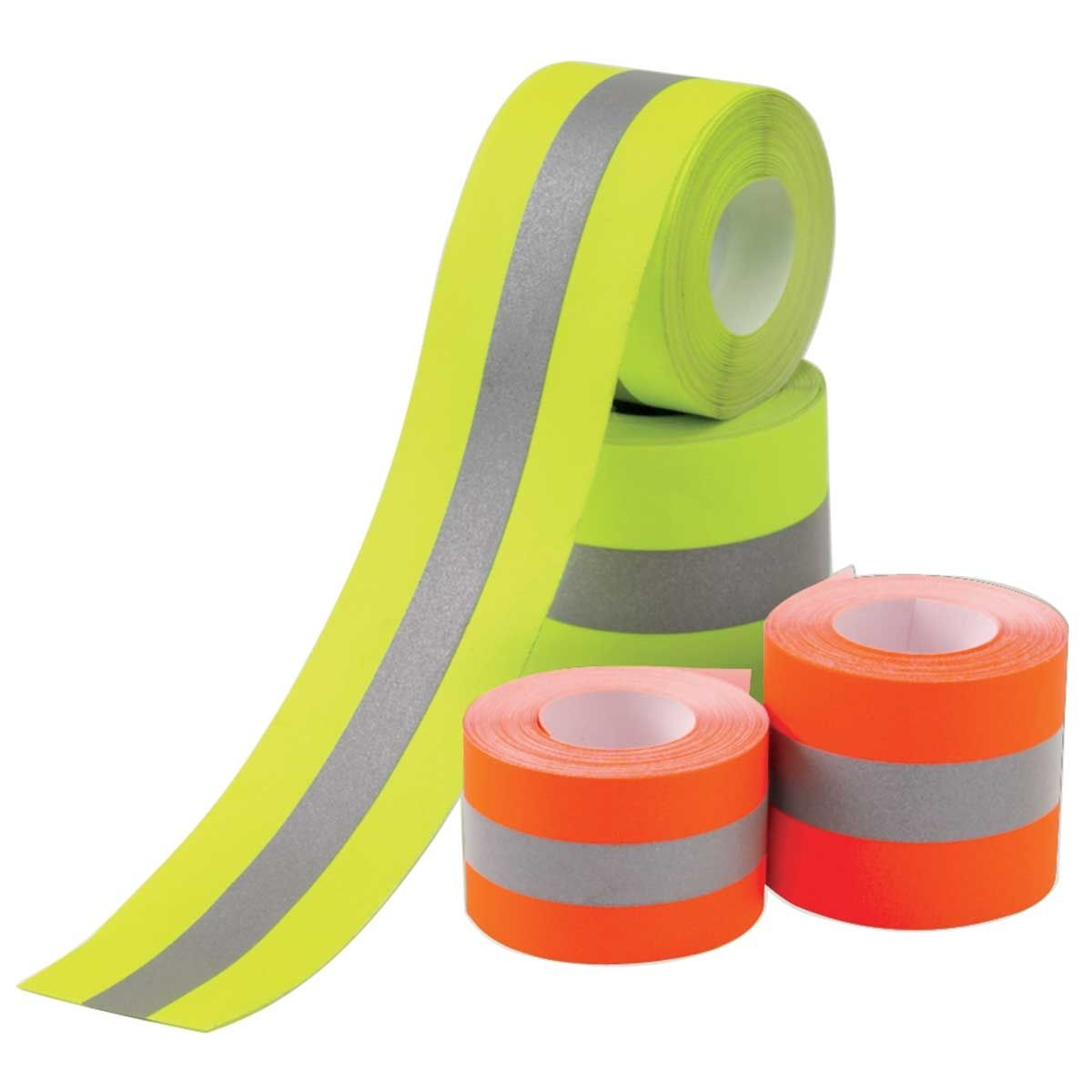 """1/"""" and 2/"""" Inch High Visibility Reflective Sew On Fabric Trim Tape"""