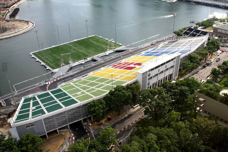 The Largest Floating Stage In The World World Football Stadium Sports Stadium