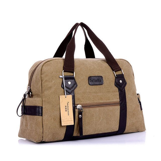 New Men S Fashion Casual Canvas Travel Duffel Shoulder Messenger Soft Handle Bags For Male