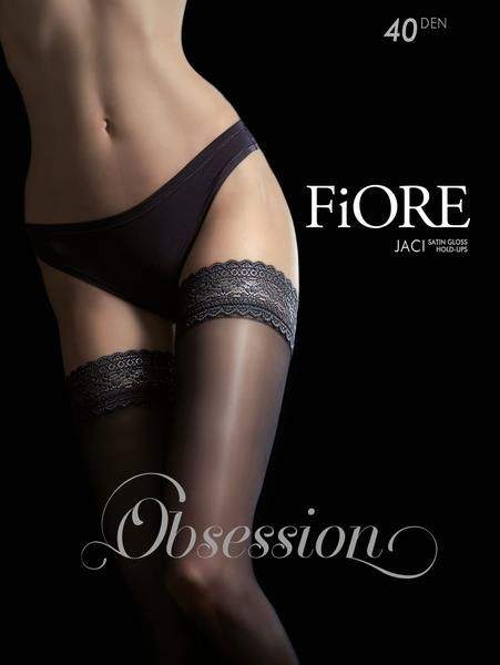 Fiore Finesse 8 Denier Sheer Lace Top Hold Up Nylons