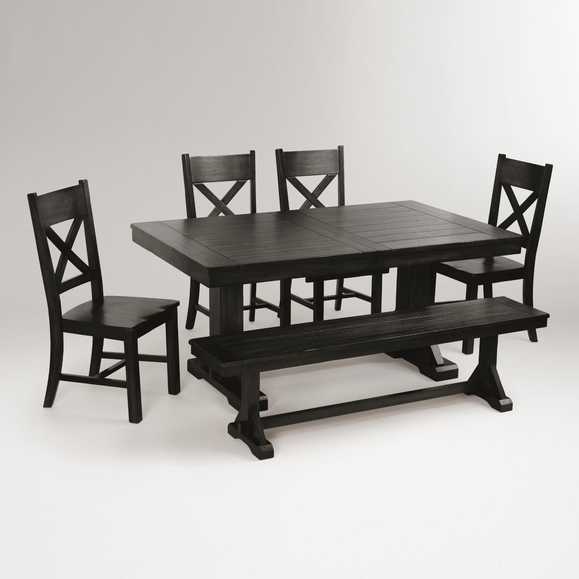 549 Antique Black Verona Trestle Table World Market