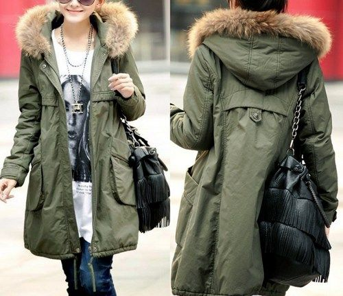 Winter Coats For Women In Green With Fur Hood | Stitch Fix ...