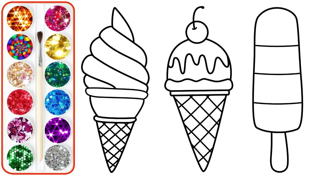 Coloring Ice Cream For Kids Coloring Pages For Children Babies Todd Kids Printable Coloring Pages Coloring Pages Disney Coloring Pages