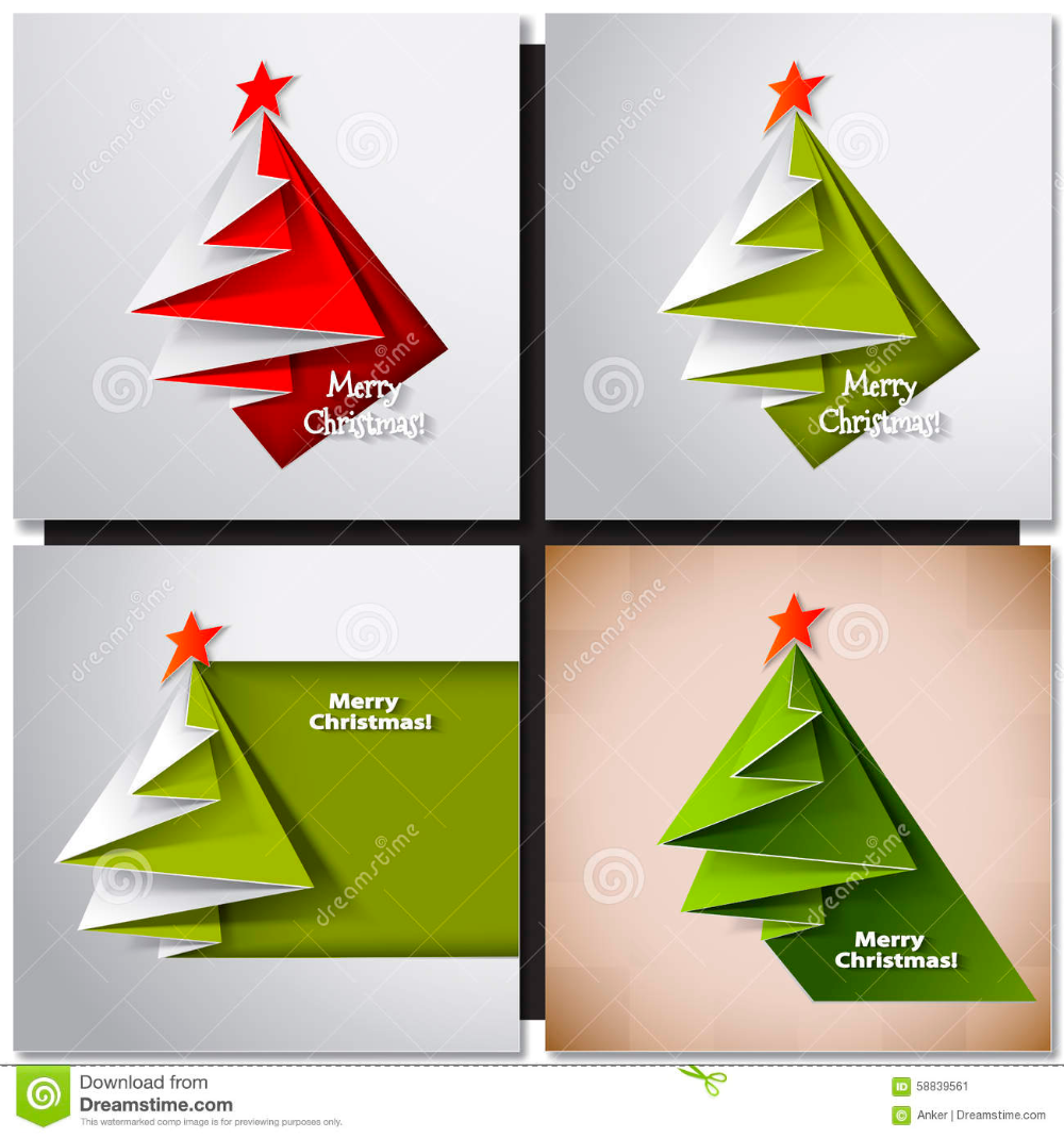 Illustration About Christmas Tree Paper Design Card Vector Origami Illustration Of Celebra Christmas Tree Cards Origami Christmas Tree Card Christmas Origami